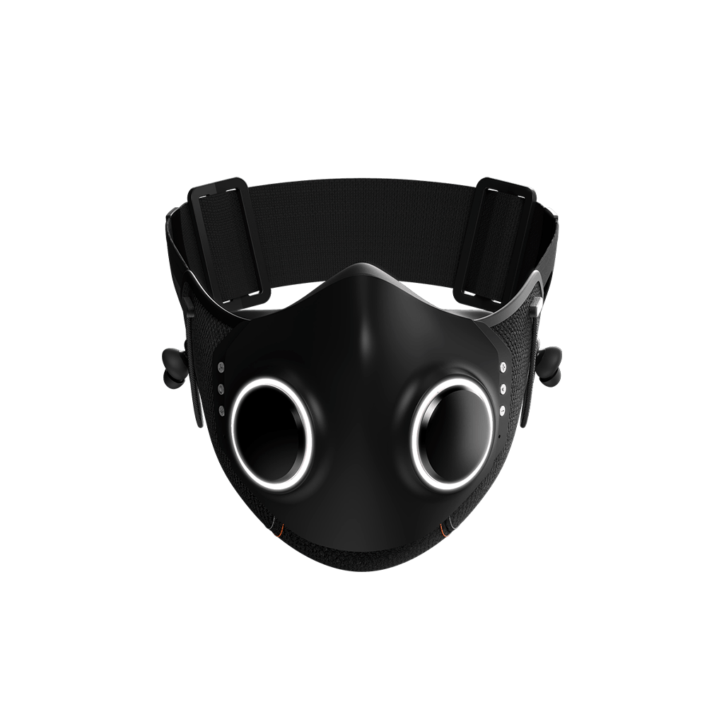 black xupermask with lights